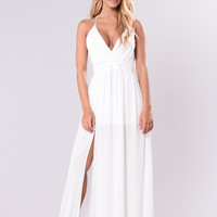 Out In Miami Dress - White