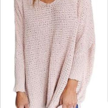 Europe and the United States winter new V neck sweater knit sweater top shirt shirt women