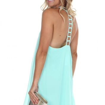 Ladder Mini Dress Mint