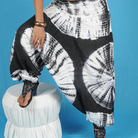 Tie Dye Harem Baggy Loose Genie Pants Trouser jumpsuit Yoga Boho Gypsy Hippie Indian women Ladies Alibaba Black Pants