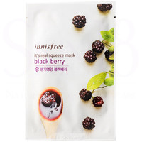 Innisfree It's Real Squeeze Mask - Blackberry  *exp,date 12/18