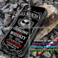 jack skelington's whiskey iphone case, iphone 4/4S, iphone 5/5S, iphone 5c, samsung s3 i9300, samsung s4 i9500, design accesories