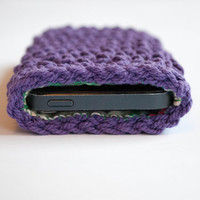Iphone 5s cover, Crochet Iphone 5 case, Iphone 5 sleeve, Iphone 5 case,Crocheted Iphone 5 case with lining,phone wallet,Christmas gift idea