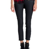 Klique B - Leather Zippered Ankle Skinny Pants