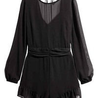 Playsuit - Black - Ladies | H&M GB