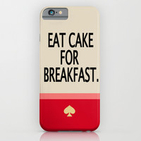 Kate Spade Inspired Eat Cake For Breakfast iPhone & iPod Case by Hannah