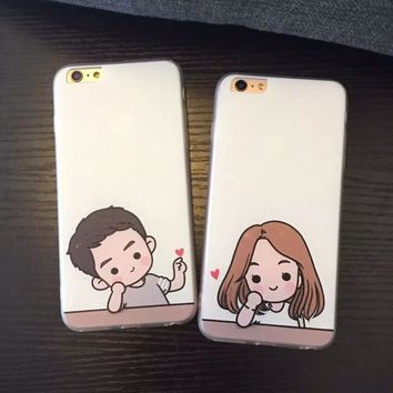 Stylish Cute Hot Sale On Sale Hot Deal Iphone 6/6s Apple Iphone Couple Phone Case [8864219143]