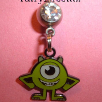 Monsters Inc. MIKE WAZOWSKI Disney Pixar Belly Navel Ring Body Jewelry
