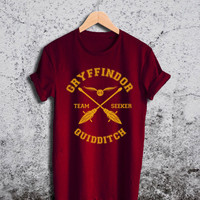 Gryffindor Quidditch Shirt Harry Potter Unisex Tshirt
