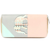 Elephant Tribal Pattern Clutch Wallet