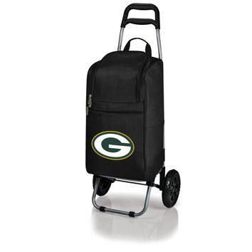Green Bay Packers - Cart Cooler with Trolley (Black)