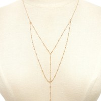 Layered Drop Chain Necklace