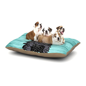 "Art Love Passion ""Little Miss Daisy"" Blue Black Dog Bed"