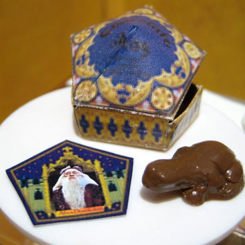Harry Potter Miniature Chocolate Frog Dollhouse by LittleWooStudio