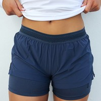 This Is My Me Time Shorts: Navy