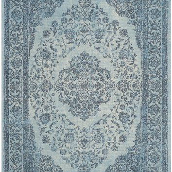 Classic Vintage Traditional Indoor Area Rug Blue