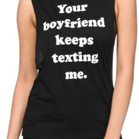 Married To The Mob Your Boyfriend Muscle Tee