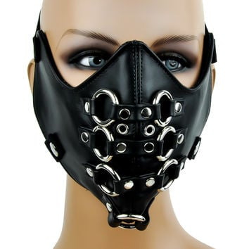 O Ring Rivet and Eyelet Motorcycle Riding Mask Biker Cosplay