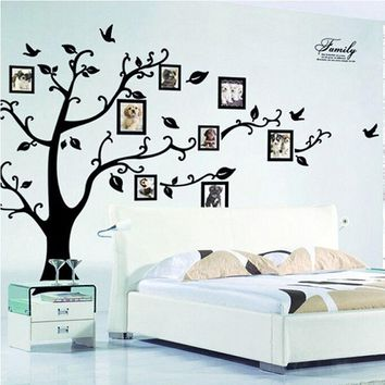 DIY Family Photo Frame Tree Wall Sticker Home Decor Living Room Bedroom Wall Decals Poster Home Decoration Wallpaper Mural Art