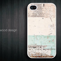 old wall Hard case Rubber case iphone 4 case iphone 4s case New Iphone 5 case iphone case Time Passes design printing