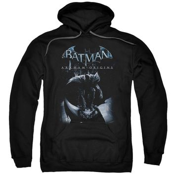 Batman Arkham Origins - Perched Cat Adult Pull Over Hoodie