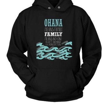 DCCK7H3 Ohana Family Quote Hoodie Two Sided
