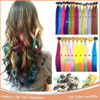 "100pcs Feather Extension For Hair  Multicolor 18"" 45cm Rainbow Hair Extension Colorful Straight Grizzly Feather Hair Extensions"