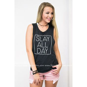 Slay All Day Graphic Tank