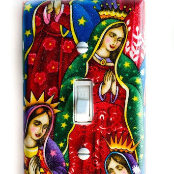 Virgen De Guadalupe Virgin Mary Single Toggle Switchplate