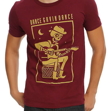 Dance Gavin Dance Skeleton Guitar T-Shirt