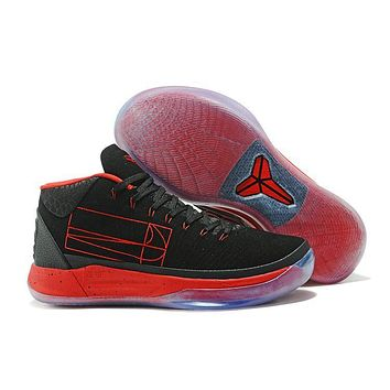 Nike Mens Kobe A.D. 13 Mid Black/Red Basketball Shoes