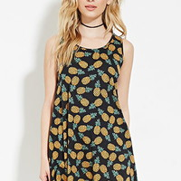 Pineapple Print Mini Dress