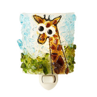 RECYCLED GLASS GIRAFFE NIGHT LIGHT | glass art, crushed | UncommonGoods