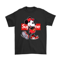 QIYIF Old Disney Mickey Mouse Style Supreme Shirts