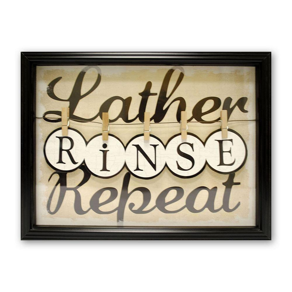 Lather rinse repeat wall decor from kohl39s things i for Good look kohls wall art decals
