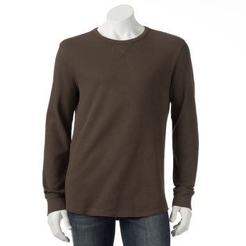 SONOMA life + style Classic-Fit Solid Thermal Tee