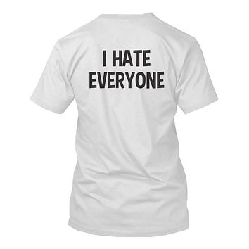 I Hate Everyone Back Print Men's Shirts Graphic Tshirt Short Sleeve Tees