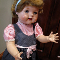 Vintage Saucy Walker 22 Inch Doll by Ideal - 1950s