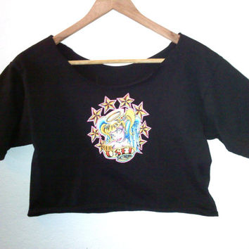 The Used / Punk Girly Crop Top / Half TShirt / Belly Top / Band TShirt / Graphic Tee