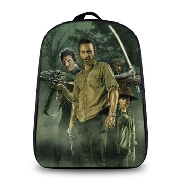 The Walking Dead Fashion Backpack Daryl Women  Saviors Men Travel Bags Boys School Daily Bags Bookbag Printing Laptop Backpacks
