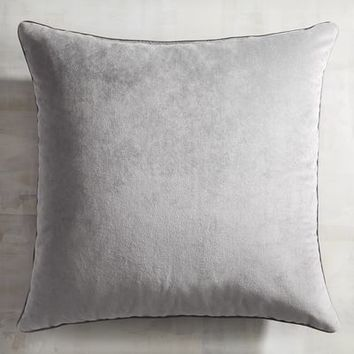 Plush Gray Pillow