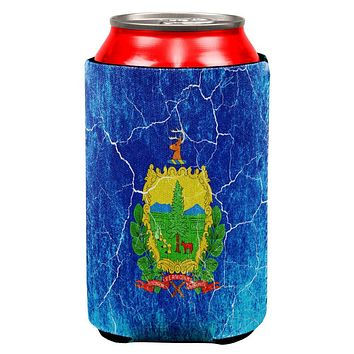 Vermont Vintage Distressed State Flag All Over Can Cooler