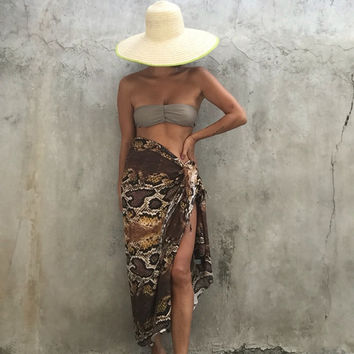 Beach sarong,Super luxury Wrap,evening,swimsuit cover up,Animal Print,resort ,Tassel wear,shawl,sexy,elegant,snake skin print
