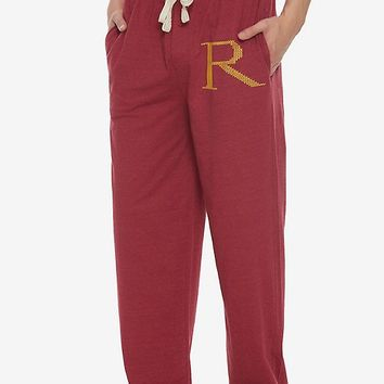 Harry Potter Burgundy R Guys Pajama Pants