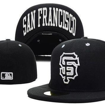 San Francisco Giants New Era Mlb Authentic Collection 59fifty Hat Black White