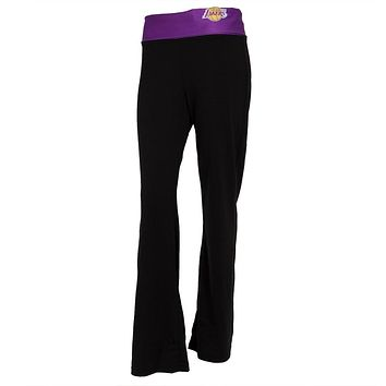 Los Angeles Lakers - Flip Down Waistband Logo Juniors Yoga Pants