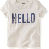 Old Navy Crew Neck Graphic Tee