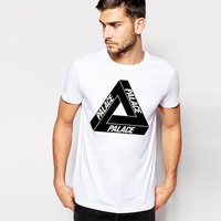 Slim Round-neck Hot Sale White Short Sleeve T-shirts [10105689987]