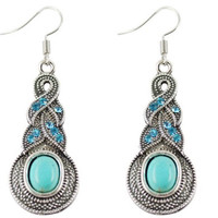 Design Faux Turquoise Earrings