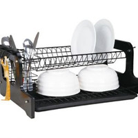 Home Basics 2-Tier Dish Drainer